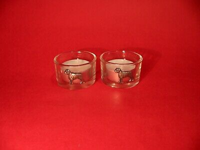 Boxer Dog On Two Round Glass Tea Light Candles Walker Trainer Breeder Xmas Gift • 14.99£