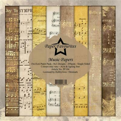 £6.50 • Buy Dixi Craft Vintage Music Sheets 6 X 6 Background Patterned Paper Pad 24 Sheets