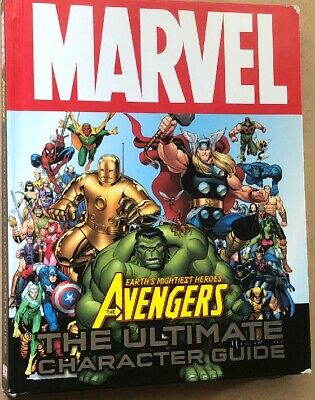 Marvel EARTHS MIGHTIEST HEROES, THE AVENGERS, THE ULTIMATE CHARACTER GUIDE Book • 5.69£