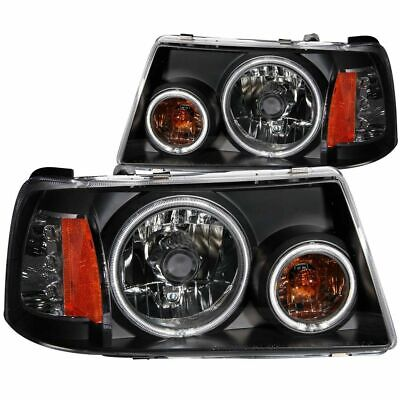 $230.84 • Buy ANZO CRYSTAL HEADLIGHTS BLACK W/ HALO (SMD LED) 1PC For 01-11 Ford Ranger