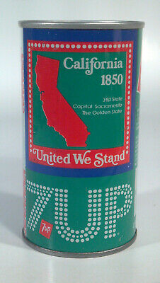 AU8.91 • Buy Vtg 7Up 12oz Straight Steel Can Bicentennial US United We Stand State California