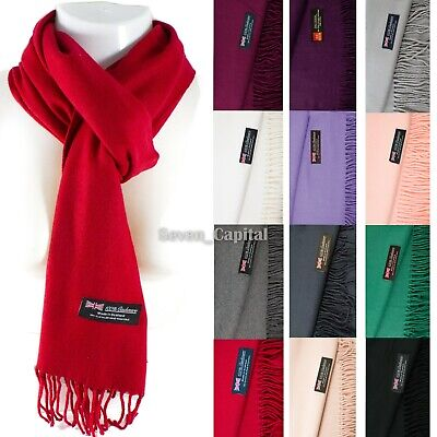 $6.49 • Buy Mens Womens Winter Warm SCOTLAND Made 100% CASHMERE Scarf Scarves Plain Wool
