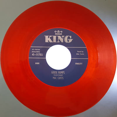 MAC CURTIS -  GOOSE BUMPS  C/w  WHAT YOU WANT  - RED VINYL - LISTEN TO BOTH • 10£
