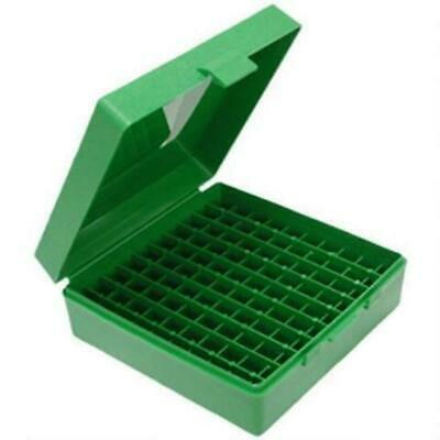 AU10.50 • Buy MTM 100 Rnd Hinged Top Ammo Box Green 9mm