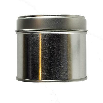 Large Silver Welded Tin 250ml - Candle Making Storage Sweets Wedding Favour • 12.99£