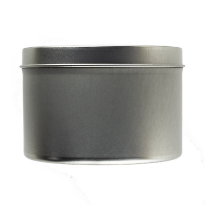 Large Seamless Silver Tin 250ml - Candle Making Storage Sweets Wedding Favour • 12.99£