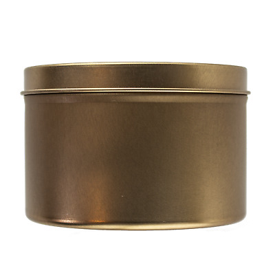 Large Rose Gold Seamless Tin 250ml - Candle Making Storage Sweets Wedding Favour • 14.99£
