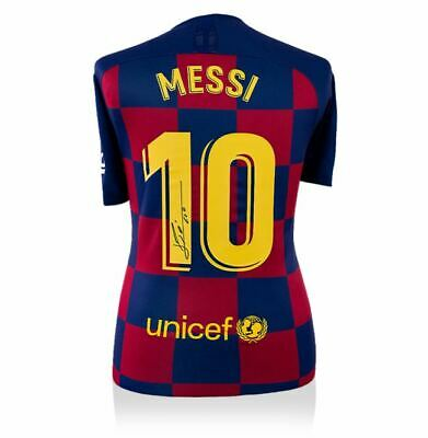 AU1152.68 • Buy Lionel Messi Official Signed FC Barcelona 2019-20 Home Jersey Icons.