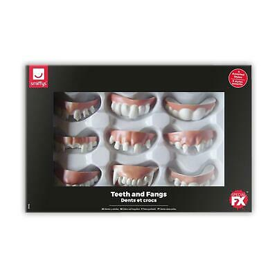 9 X Teeth And Fangs Theatre Character Halloween Hillbilly Vampire Buck Gapped • 9.28£