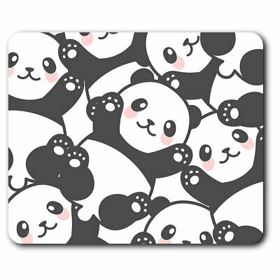 Computer Mouse Mat - Cartoon Cute Panda Bears Print Office Gift #12364 • 5.99£