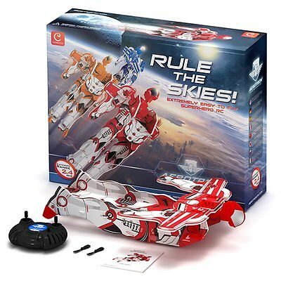 $32.22 • Buy Radio Remote Control Flying Man Aerotron RC 2 Channel Red Plane Ages 3+ Boys Toy