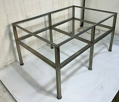 6 Legged Stainless Steel Welded Table Frame Stand No Top H 60cm W 113cm D 77cm • 99£