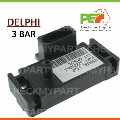 AU156 • Buy New  * DELPHI * Delco Style - 3 BAR - Turbo / Supercharged MAP Sensor