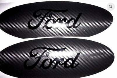 $9 • Buy Carbon Fiber Ford Emblem Overlay Badge BLACKOUT Edition Decal Any Year / Model