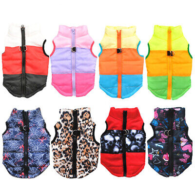 XS-XL Winter Warm Dog Vest Small Dog Clothes Puppy Coat Jacket Pet&Cat Clothes • 4.49£