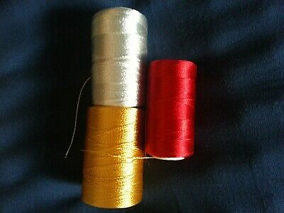 50mtrs. Very Strong Whipping Thread..RED GOLD SILVER BUY ANY TWO GET THIRD FREE • 4.06£