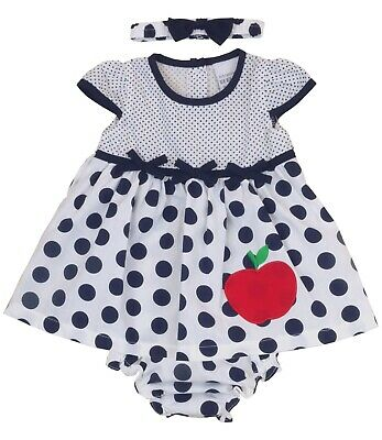 £4.99 • Buy BabyPrem Baby Girls 9-12 12-18 18-24 Months Dress Navy Summer Outfit With Pants