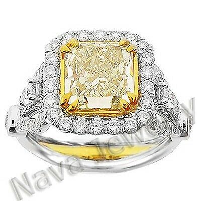 3.67 Ct. Canary Fancy Yellow Diamond Engagement Ring • 12,162.43£