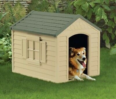 $90.95 • Buy Dog House Outdoor For Small To Large Weatherproof Plastic Houses Pet Gift NEW