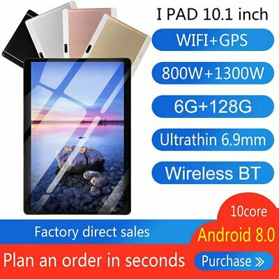 AU97.99 • Buy 10.1 Inch 6G + 128G HD WiFi Tablet Android 8.0 Bluetooth Game Tablet Computer PC