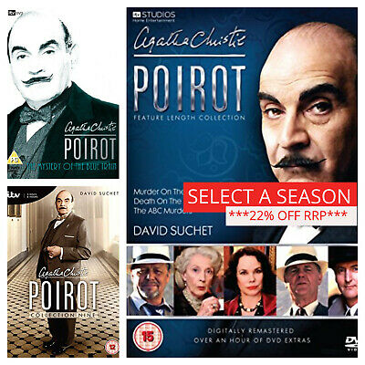 £34.89 • Buy Poirot DVD Box Set Complete Collections From Season 1 2 3 4 5 6 7 8 9 10 11+