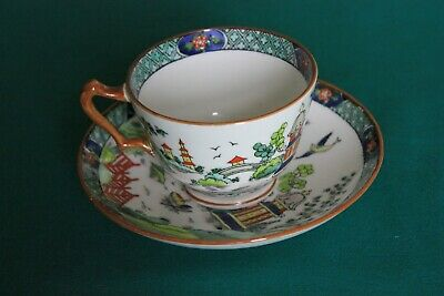 Crown Staffordshire #5356 Ye Olde Willow  Cup & Saucer Set  • 11£