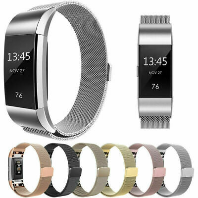 AU12.87 • Buy For Fitbit Charge 2 Band Metal Stainless Steel Milanese Loop Wristband Strap