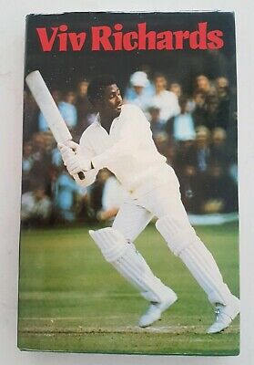 AU215 • Buy Viv Richards Cricket Signed Autobiography Hardback Buy Authentic Book Vivian