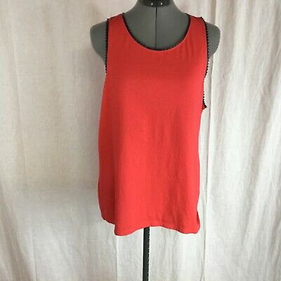 $8.99 • Buy Women's J.Crew Red Sleeveless Cotton Top Size XL