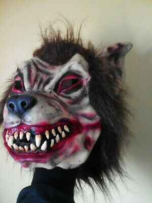 £9.95 • Buy Wolverine Wolf Halloween Mask Full Face Scary Blood