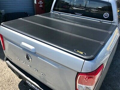 AU900 • Buy Tri-Fold Hard Lid Tonneau Cover For SsangYong Musso (Short Tub) 2018-current