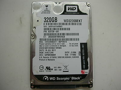 AU16.67 • Buy WD Scorpio Black 320gb WD3200BEKT-60PVMT0 2060-771692-005 REV A 2,5  SATA