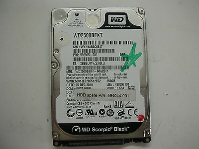 AU16.67 • Buy WD Scorpio Black 250gb WD2500BEKT-60A25T1 2061-771672-E04 04PD1 2,5   SATA