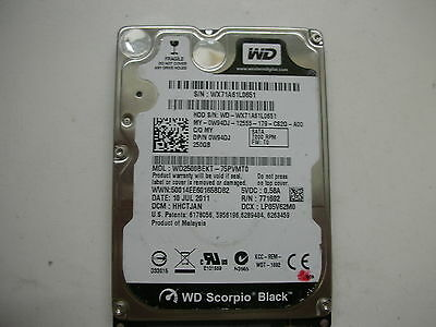 AU16.67 • Buy WD Scorpio Black 250gb WD2500BEKT-75PVMT0 2060-771692-005 Rev A 2,5   SATA