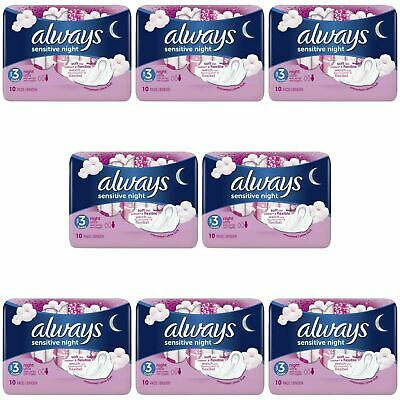 £10.31 • Buy Always Sensitive Night Ultra Sanitary Towels Soft With Wings - Size 3 - 80 Pads