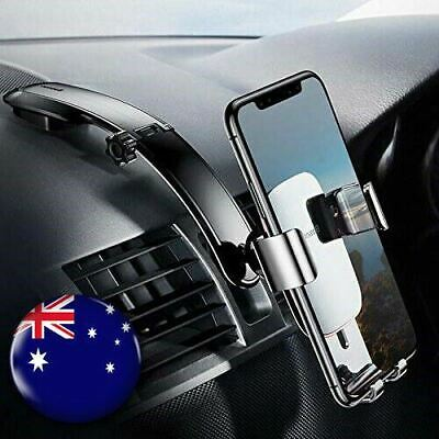 AU29.99 • Buy Baseus Metal Gravity Car Phone Holder Console Mount For IPhone Xs MAX Xr 8 7 6 5