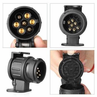 Trailer Truck 13 To7 Pin Socket Electric Towing Converter Tow Bar Plug Adaptor • 4.69£