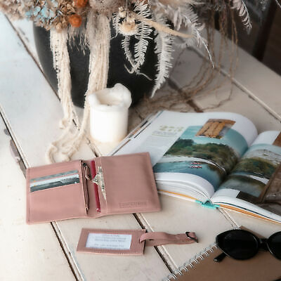 AU27.50 • Buy NEW Miles Luggage Tag In Dusty Rose Women's By Stitch & Hide