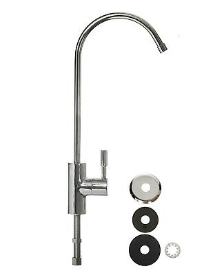 Medium Luxury Swan Neck Tap Chrome Plated Faucet For Drinking Water Filter 1/4  • 15.95£