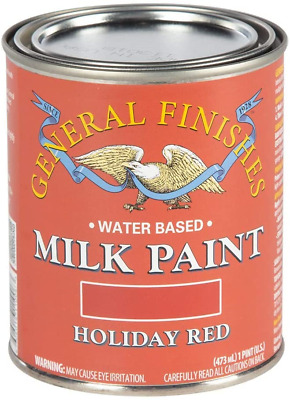 $29 • Buy General Finishes PHR Milk Paint 1 Pint Holiday Red