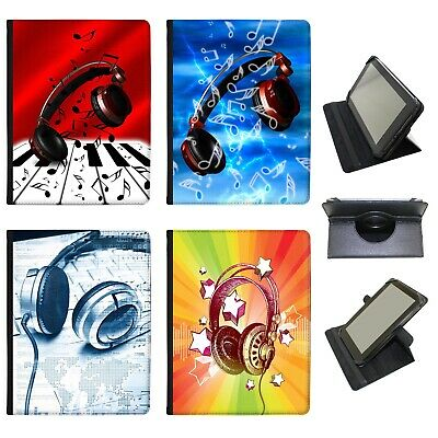 Azzumo Love Music With Headphones & Notes PU Leather Case For The Samsung Tablet • 9.99£