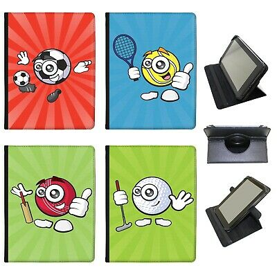 £9.99 • Buy Azzumo Sporticons Happy Sports Balls PU Leather Case For The Samsung Tablet