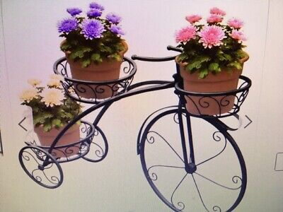 Tricycle Plant Stand - Flower Pot Cart Holder - Parisian Style-Plant Stands  • 77.34$