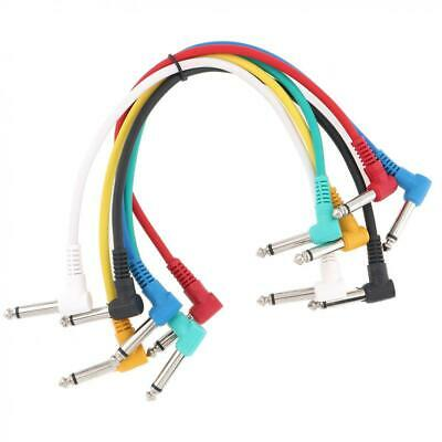 $ CDN9.10 • Buy Cable 11.8 Inch Guitar Patch Cable Colorful 6-Pack Guitar Effect Pedal Cables