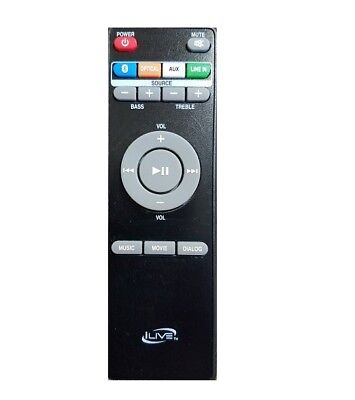 $19.96 • Buy ILive Replacement Remote Control For Wireless Soundbar