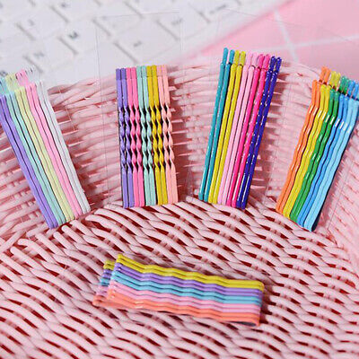 10Pcs Long Large 6cm Kirby Hair Grips Clips Bobby Waved Pins Slides Multicolor • 1.45£