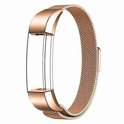 AU32.19 • Buy Maledan Milanese Replacement Bands For Fitbit Alta HR And Alta, Rose Gold