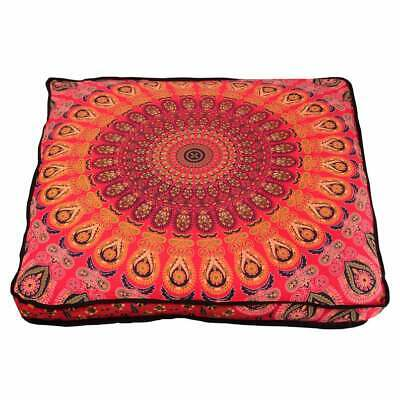 New Red Peacock Ombre Mandala 35  Indian Square Floor Pillow Case Cushion Covers • 13.96£