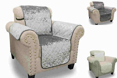 Sofa Throws Covers Over Chair Protector Crush Velvet Water Repellent  • 12.99£