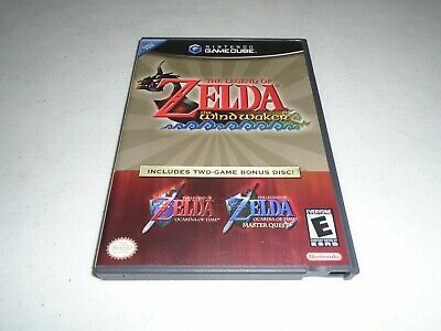 $161.99 • Buy The Legend Of Zelda Wind Waker, Ocarina Of Time Master Quest Rare Combo GameCube